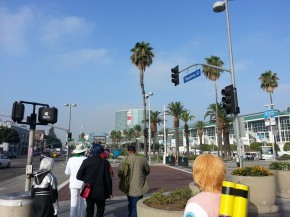 You can see the convention hall in the distance!