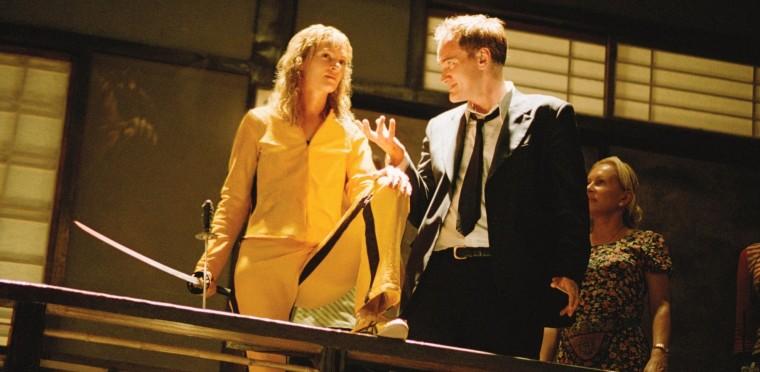 "Tarantino directing Uma Thurman as ""The Bride"""