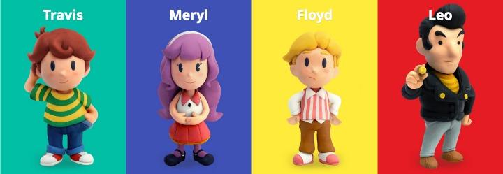 4 main characters