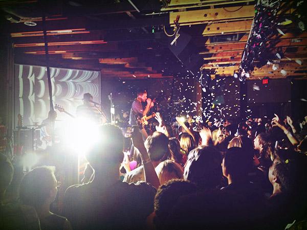 OK GO performing at Crescent Ballroom
