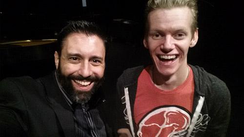 Digital Video Professor Paul DeNigris with student filmmaker Jordan Wippell