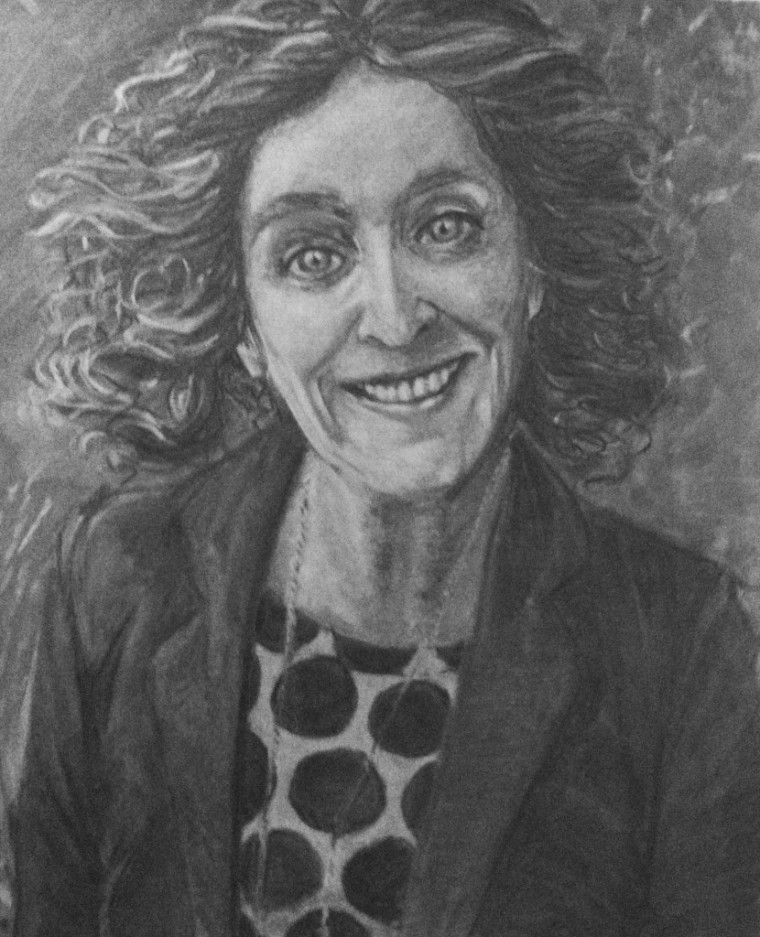 Charcoal Drawing of Yvonne Watterson