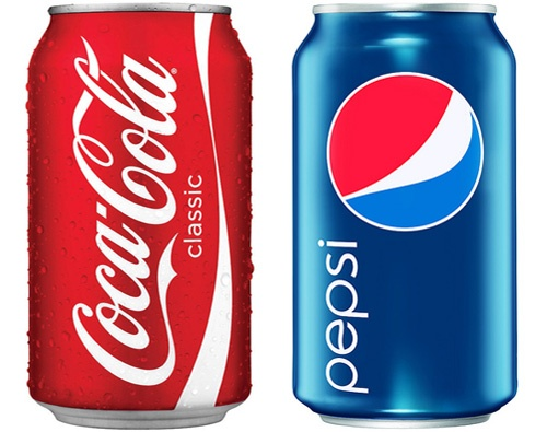 Coca-Cola and Pepsi