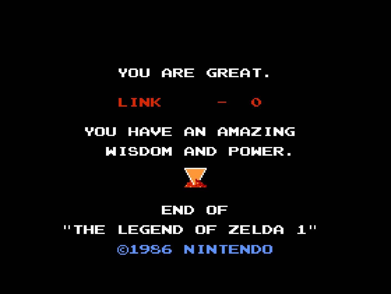 Zelda 1986 End