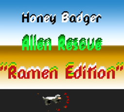 Honey Badger Alien Rescue