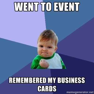 Remembered Business Cards Meme