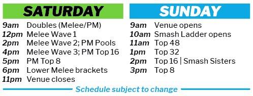 Melee Schedule