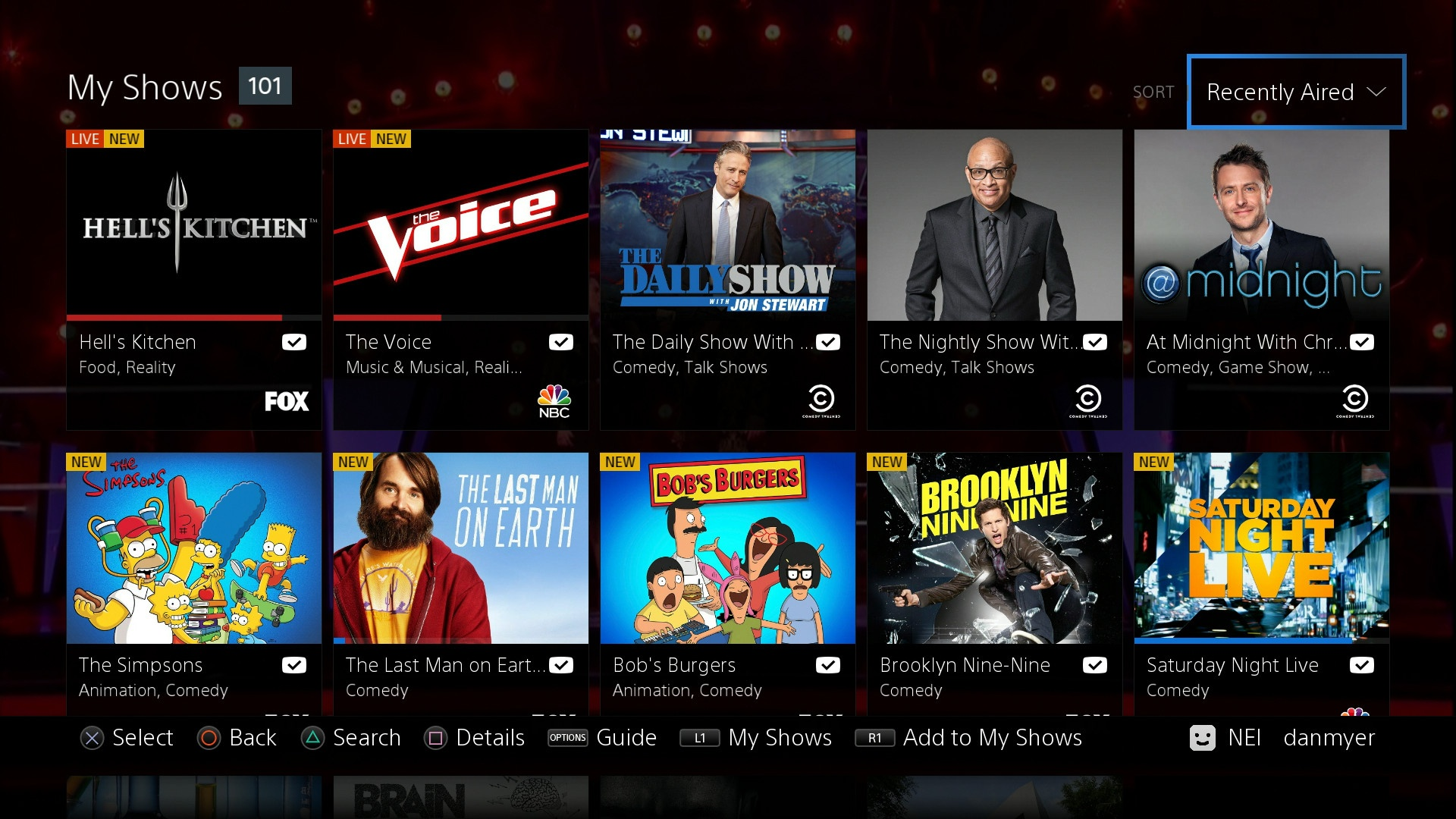 My shows on Vue